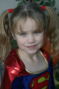 Supergirl can melt you with a look!